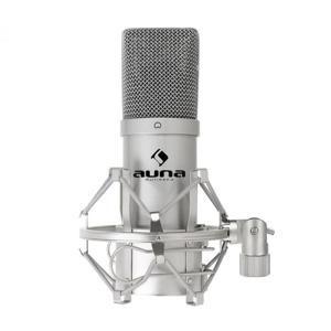 Kondenzátorový mikrofón Auna MIC-900S, USB, strieborný
