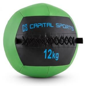 Capital Sports Wallba 12, zelený, 12 kg, wall ball, syntetická koža