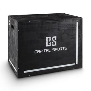 "Capital Sports Shineater, čierny, Plyo Box s tromi výškami 20"" 24"" 30"""
