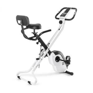 Capital Sports Azura X1 X-Bike, bicykel, do 120 kg, merač tepu, sklápací, 4 kg, biely