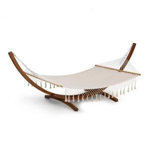Blumfeldt Bali TAS Swing, hojdacia sieť, smrekovec, max. 160kg, krémová farba, strapce
