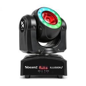 Beamz Illusion 1, otočná hlava, LED Beam s LED kruhom, čierna