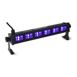 Beamz BUV63, LED Bar, 6 x 3 W UV LED diódy, čierna