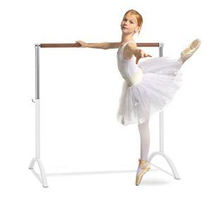 KLARFIT Bar Lerina, baletná tyč, voľné státie, 110 x 113 cm, 38 mm Ø, biela