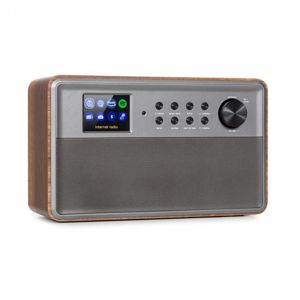 "Auna Connect Link, inteligentné rádio, IR/DAB+/FM, Spotify, BT, 2,4"" HCC displej, drevo"