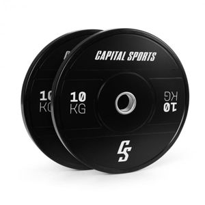 Capital Sports Elongate 2020, kotúče, 2 x 10 kg, tvrdá guma, 50,4 mm