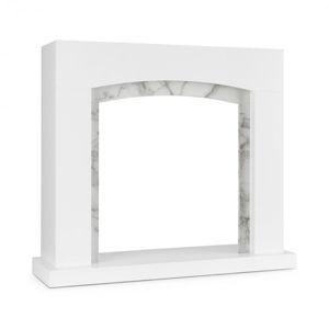 Klarstein Studio Frame II, krbový kryt, MDF, mramorová dekorácia
