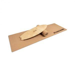 BoarderKING Indoorboard Wave, balančná doska, podložka, valec, drevo/korok, prírodná