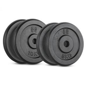 Capital Sports IPB 30 kg Set, sada závaží na činky, 2 x 5 kg + 2 x 10 kg, 30 mm
