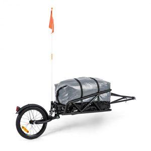 """KLARFIT Follower, sada prívesu za bicykel, 16"""" koleso, nosnosť nákladu 35 kg, 120 l transportná taška"""