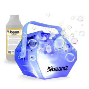 Beamz B500LED, sada s výrobníkom mydlových bublín, RGB LED farebný efekt, 1 l tekutiny