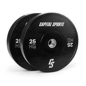 Capital Sports Elongate 2020, kotúče, 2 x 25 kg, tvrdá guma, 50,4 mm